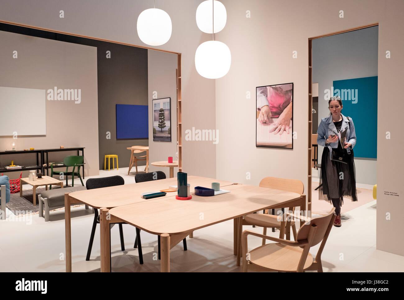 Genial Milan April, 2017: Interior Design Furniture At The International Design  Week Salone Del Mobile, In Milan, Italy.