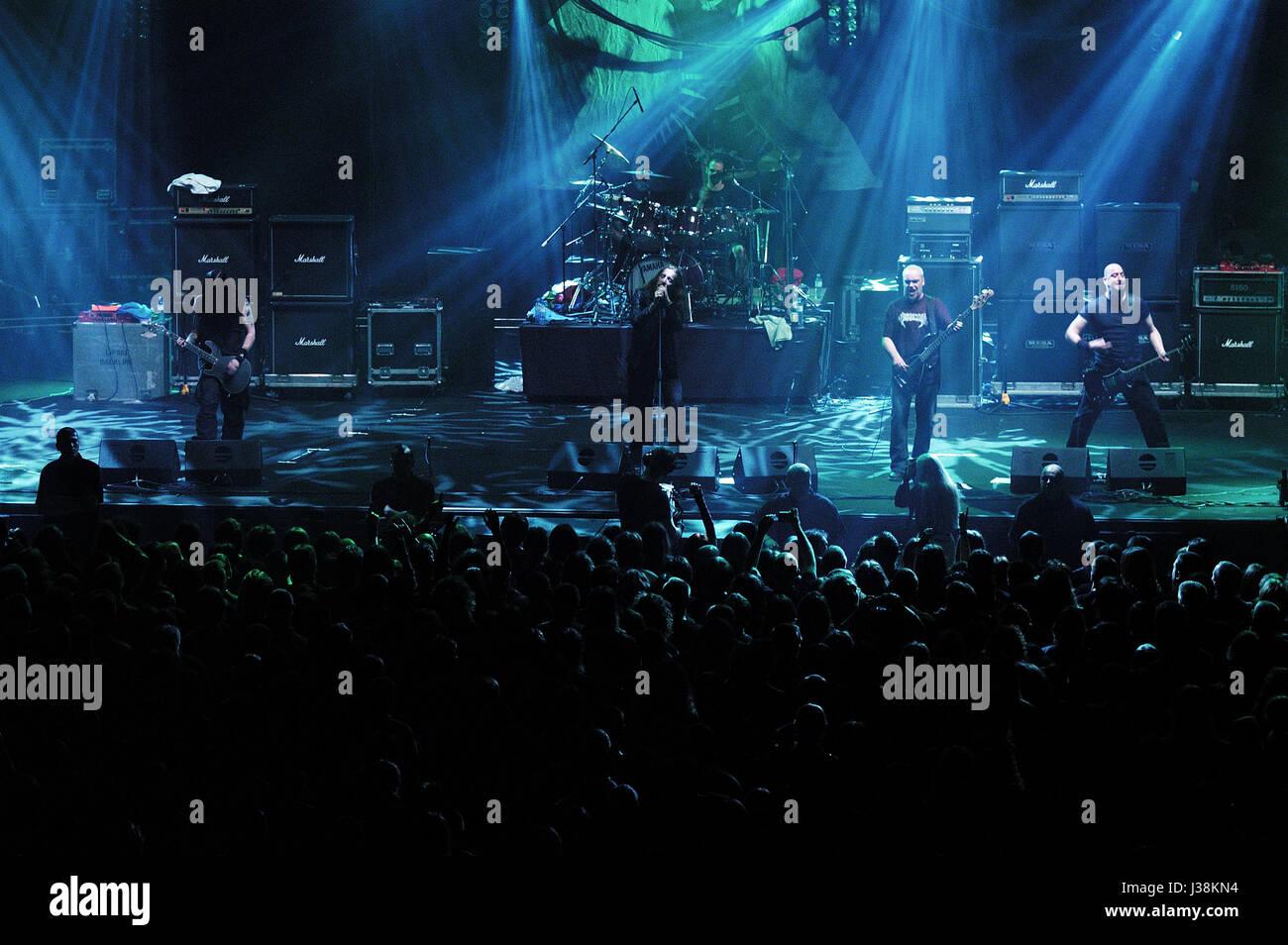 Paradise Lost, Nick Holmes,Gregor Mackintosh, Aaron Aedym, Steve Edmondson,Jeff Singer, gothic metal, - Stock Image