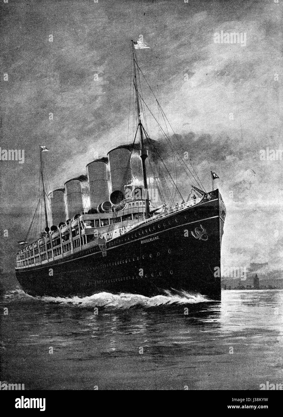 Dampfschiff Deutschland 00 Stock Photo 139718205 Alamy