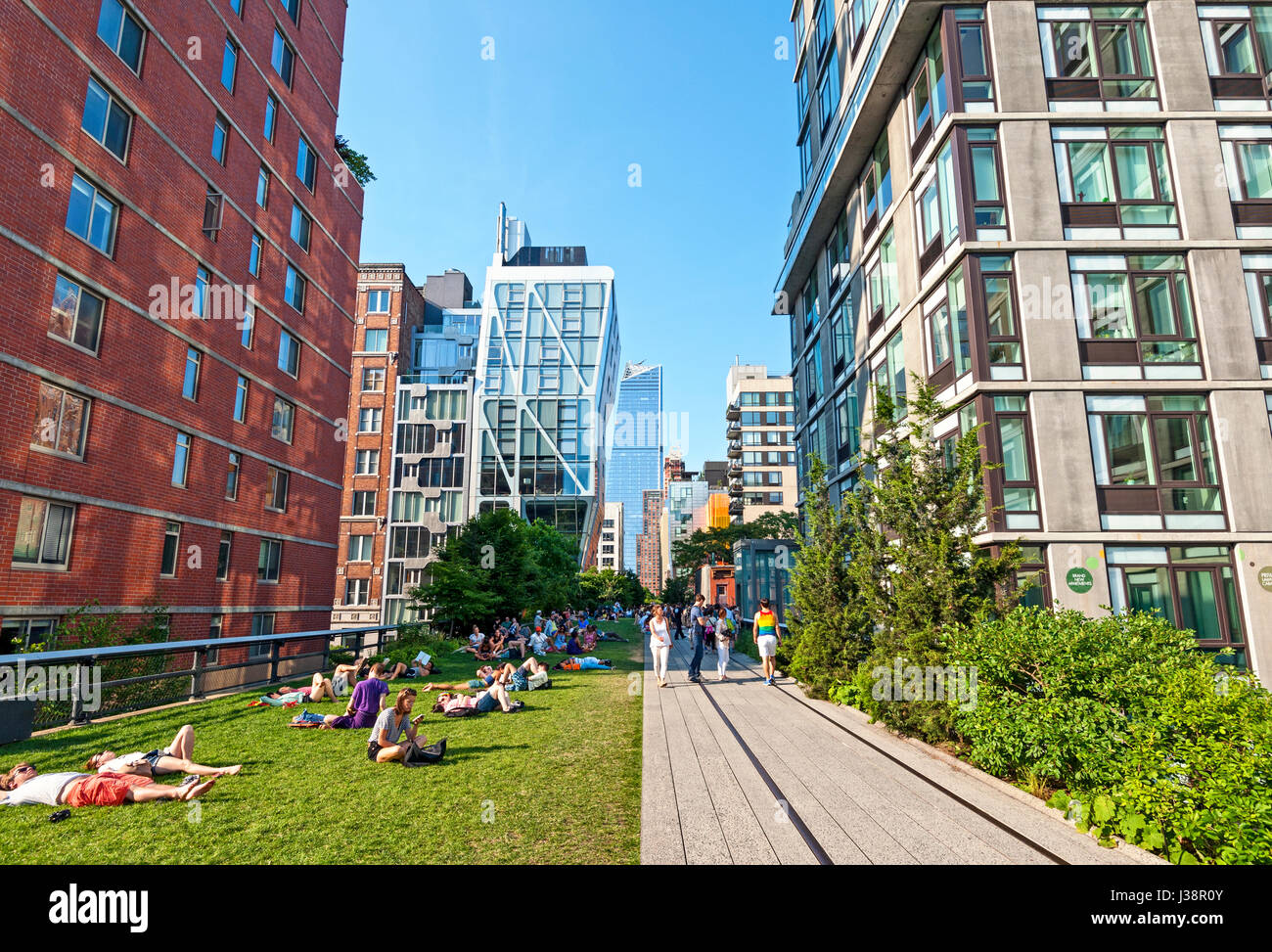 High Line New York City Chelsea Manhattan - Stock Image