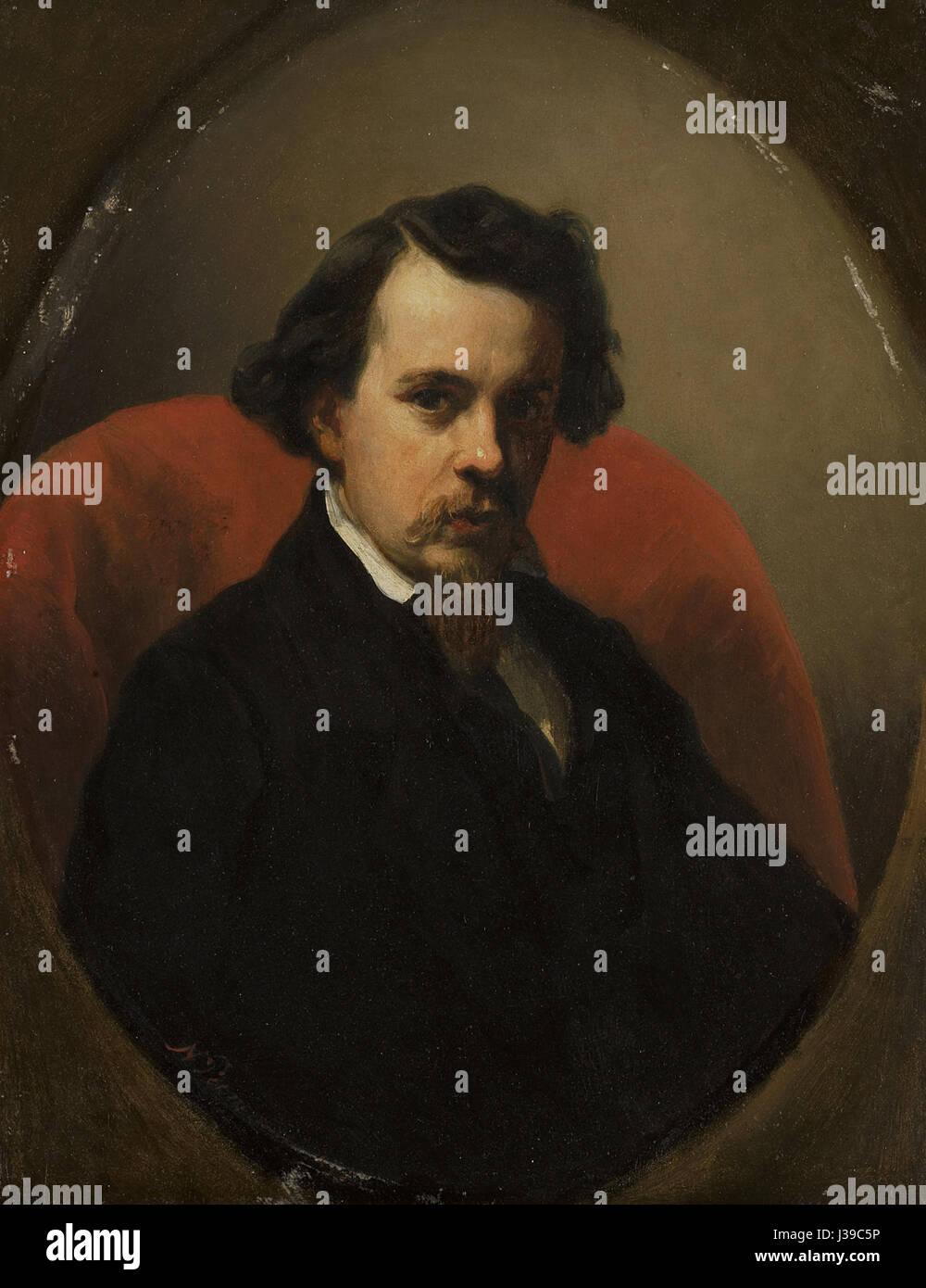 Charles Henri Joseph Leickert (1818 1907), schilder Rijksmuseum SK A 4164 - Stock Image