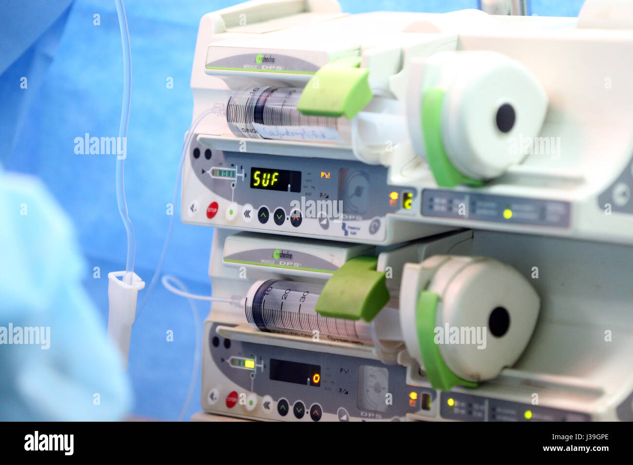 Operating theater. cardiac surgery. anesthesia. - Stock Image