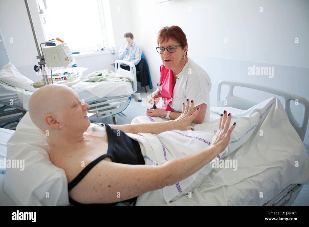 HOSPITAL BEAUTICIAN - Stock Image