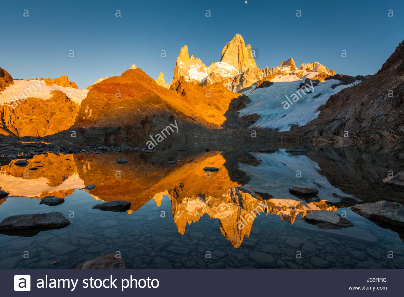 Autumn in Patagonia. Fitz Roy, Argentina - Stock Image