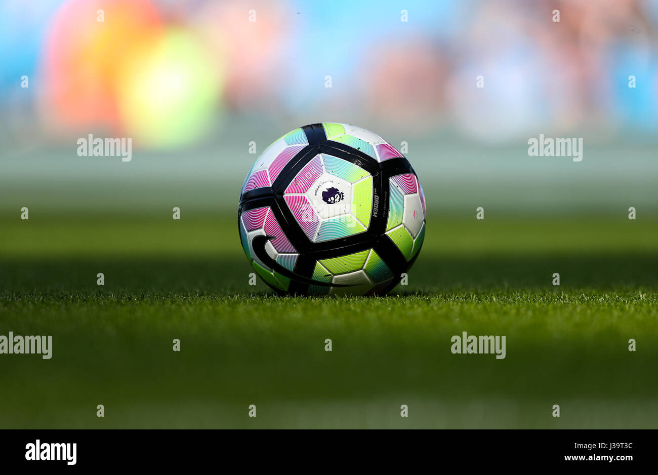 size 40 ecd22 d04e5 A Nike football on the pitch - Stock Image
