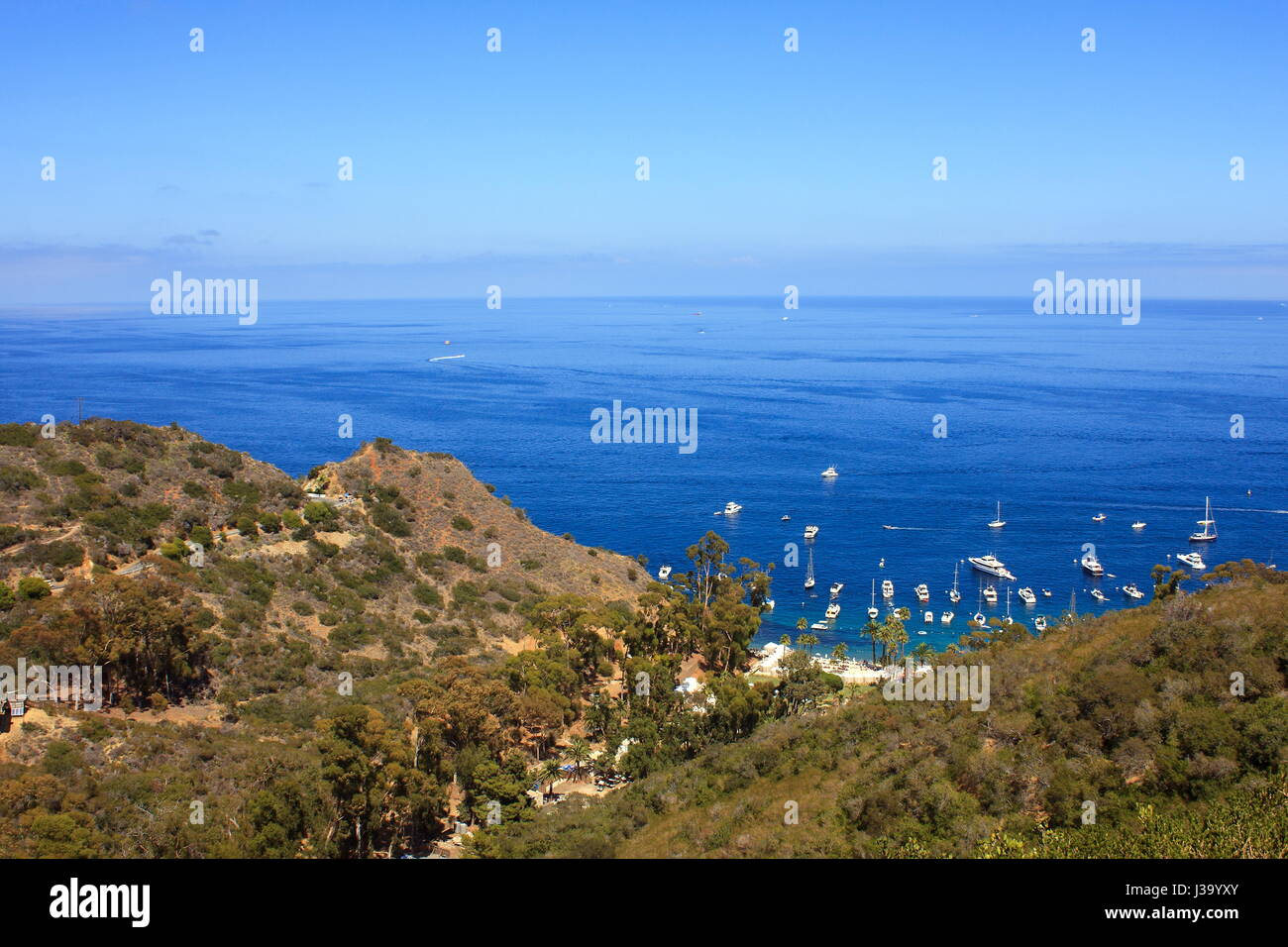 A view of Sunny and Peaceful afternoon at Catalina island - Stock Image