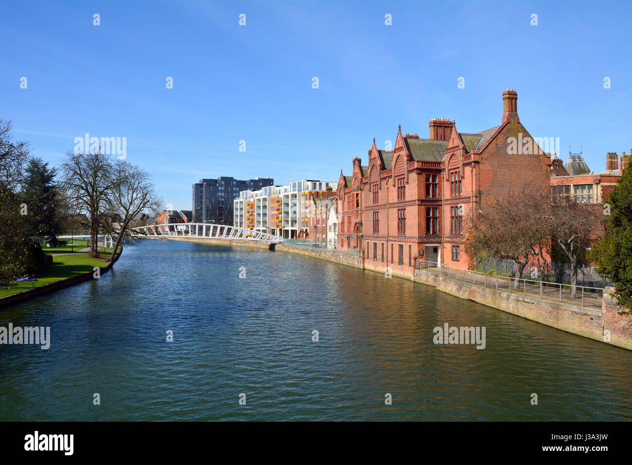 River North regeneration project in Bedford, Bedfordshire, England - Stock Image