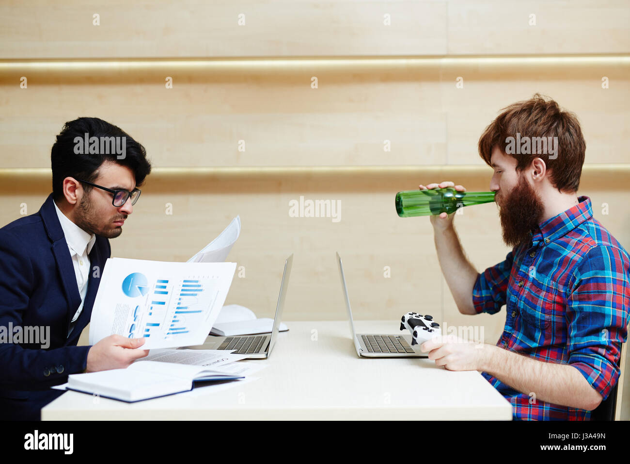 Types of Office Workers - Stock Image