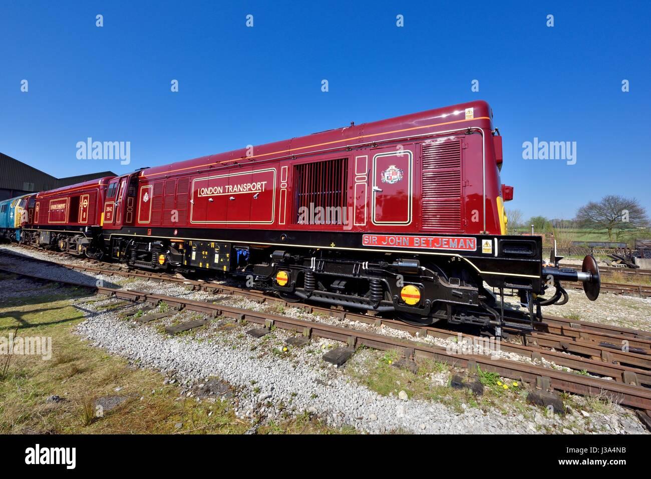 Class 20 Diesel locomotive in London Transport livery ...
