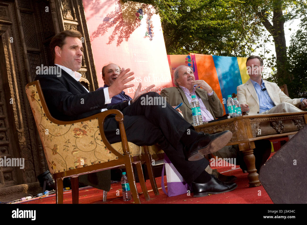 'Scotland prsents 'Under the Kilt' ' session sponsored  by Scottish govt. to the tune of 10K. seated - Stock Image