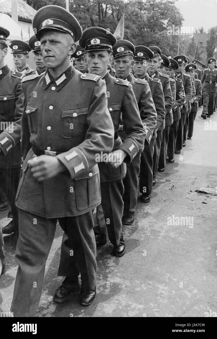Soldiers of the National People's Army - Stock Image
