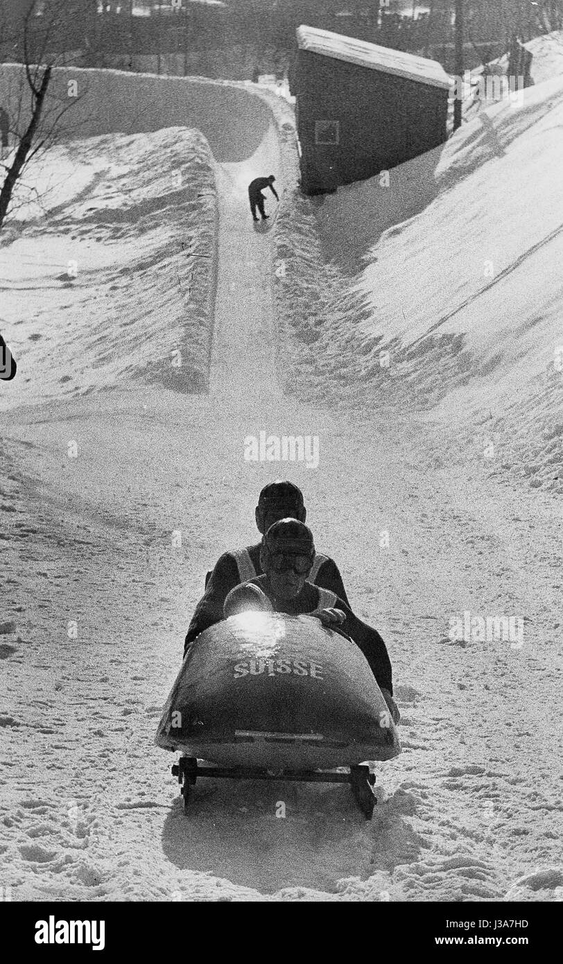 Winter Games in Cortina, 1956 - Stock Image