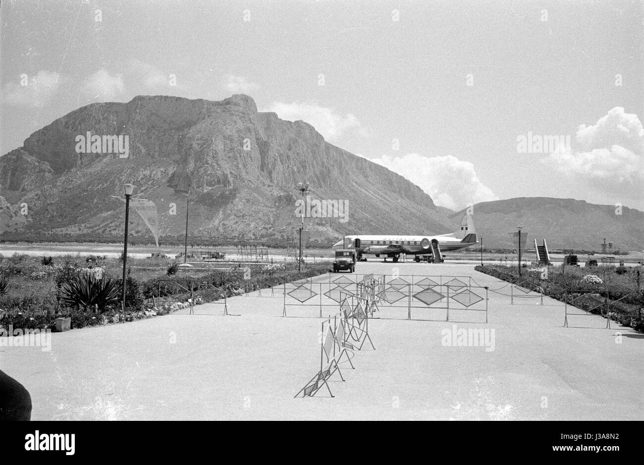 'The airport ''Palermo-Punta Raisi'' on the north coast of Sicily, 1963' - Stock Image