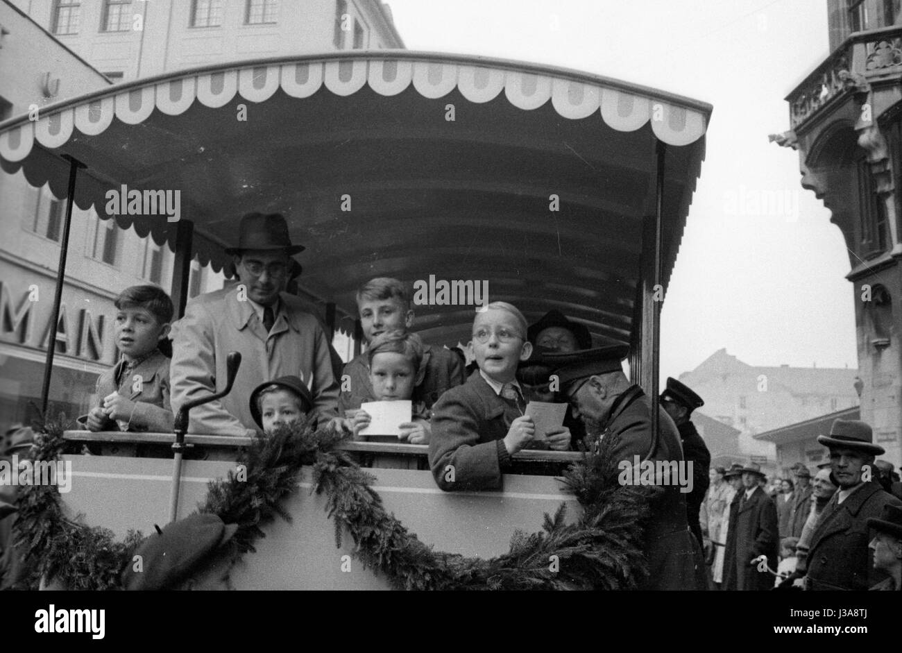 The 75th anniversary of the Munich tramway, 1958 Stock Photo