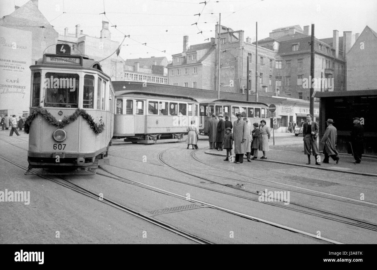 The 75th anniversary of the Munich tramway, 1959 Stock Photo
