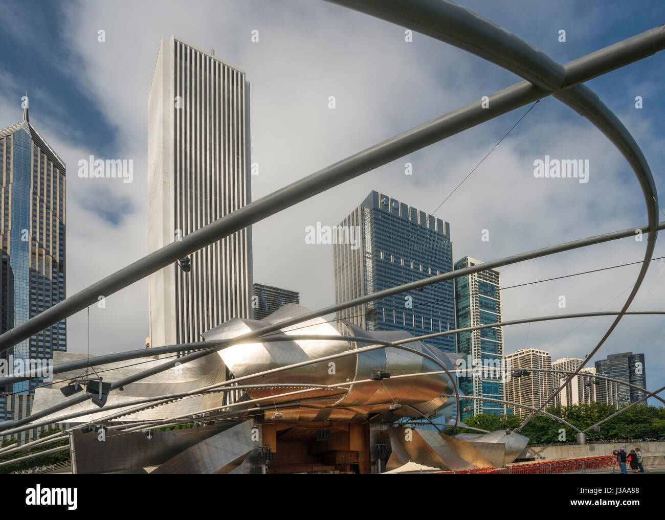 Chicago, Harris Theater by Frank Gehry  new Millenium Park USA Stock Photo