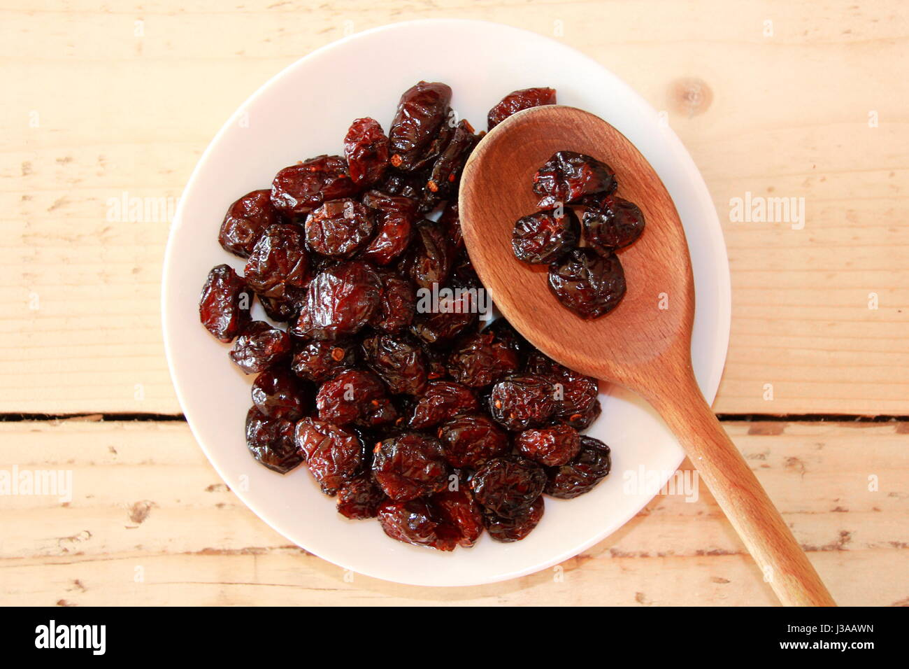 Dried fruits and nuts - Stock Image