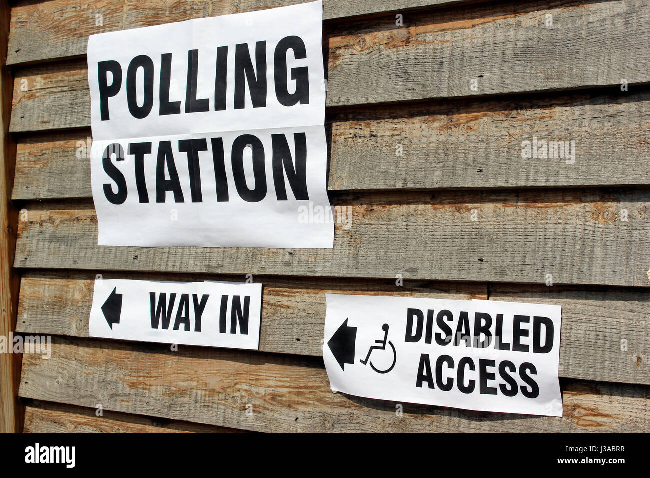 Local elections Polling Station Garsington Oxford - Stock Image