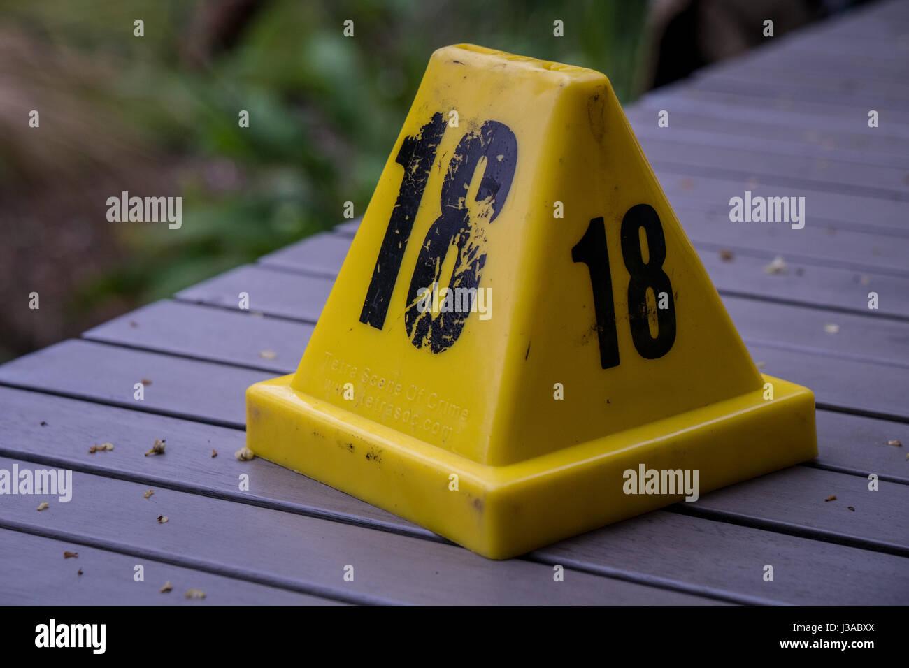 Crime Scene photos - Stock Image