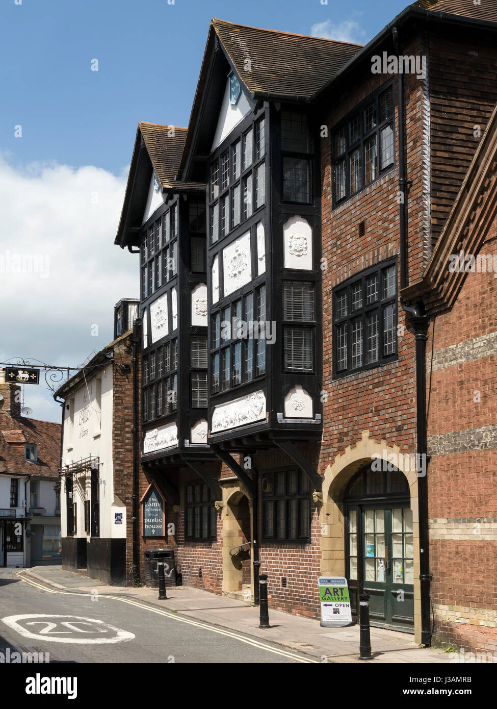 Old council offices, Fisher Street, Lewes, East Sussex, England, UK - Stock Image