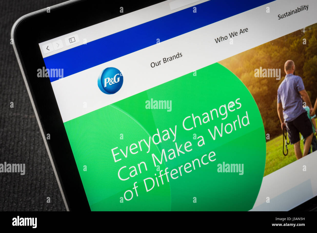 P&G Procter and Gamble website - Stock Image