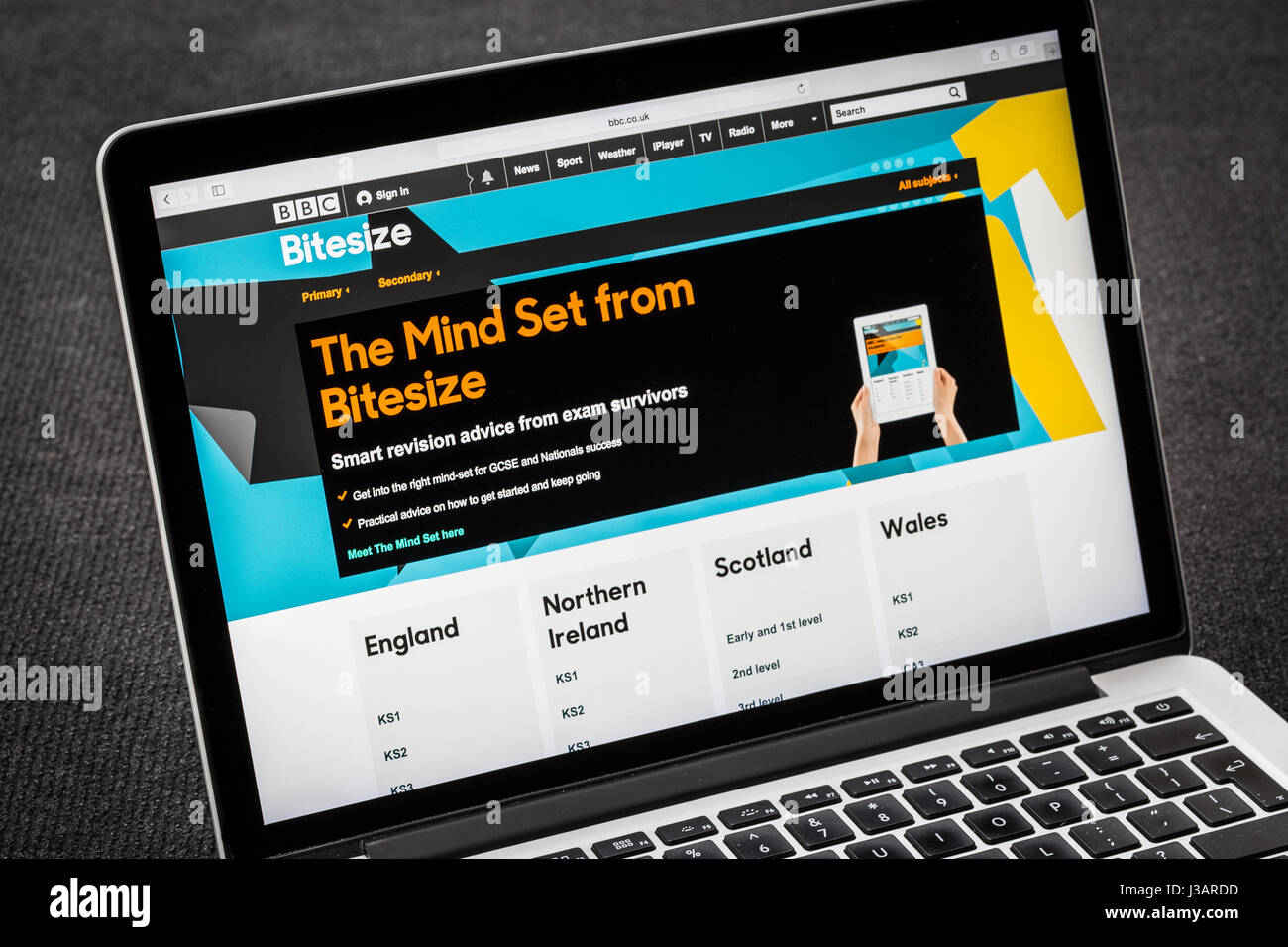 BBC Bitesize education website - Stock Image