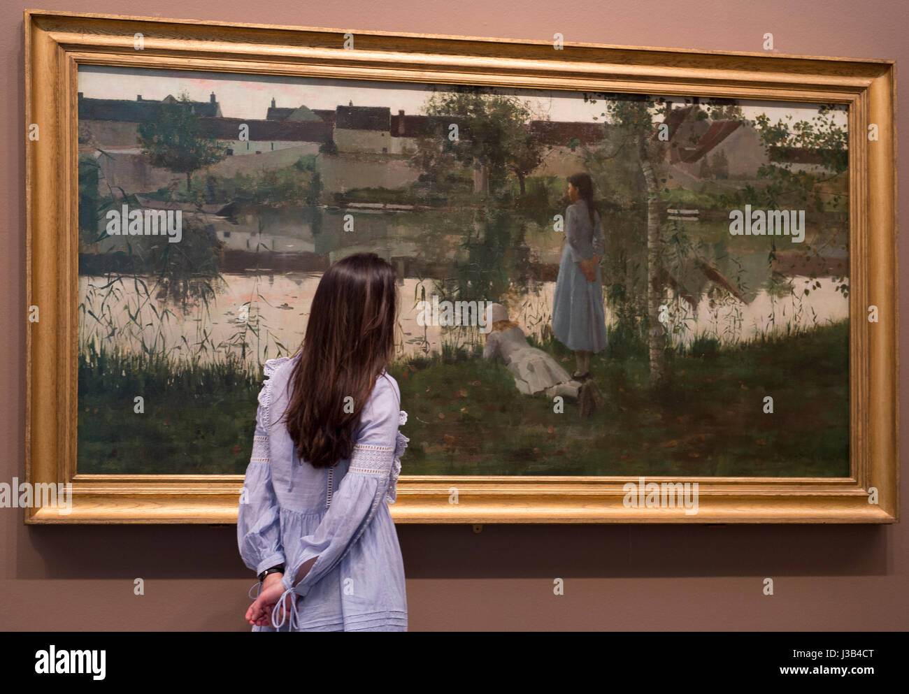 Tate Britain, London, UK. 5th May, 2017. The new acquisition Le Passeur (The Ferry) by British impressionist William - Stock Image
