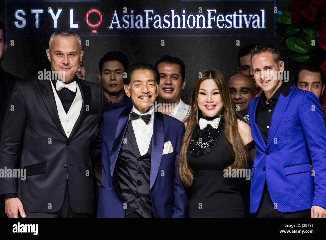 Kuala Lumpur, Malaysia. 5th May, 2017. Day four of Mercedes STYLO Asia Fashion Festival 2017 in Kuala Lumpur. Designer Stock Photo
