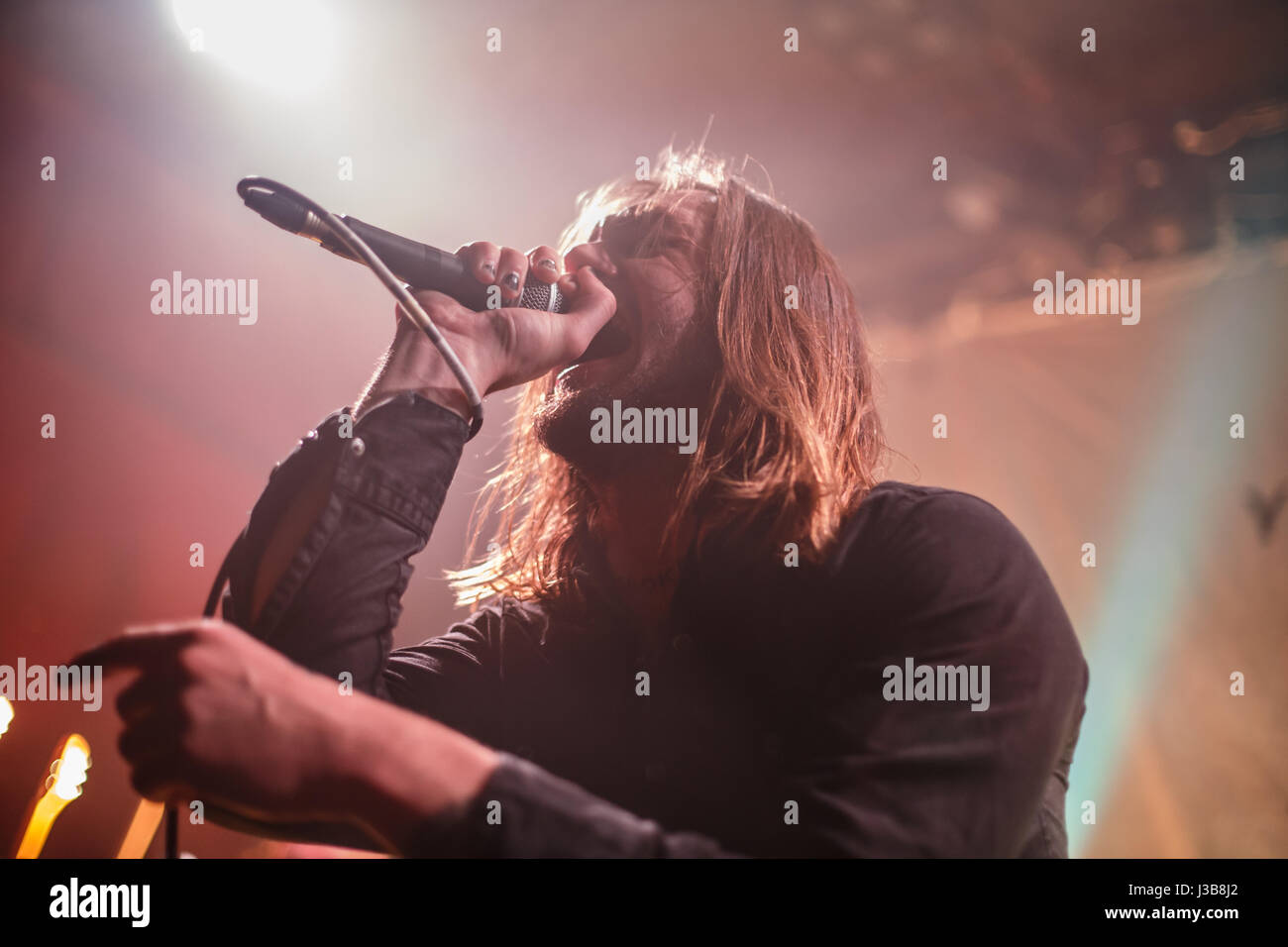 Hanley, Stoke-On-Trent, UK. 5th May, 2017. While She Sleeps perform live at The Sugarmill in Stoke. Credit: Simon - Stock Image