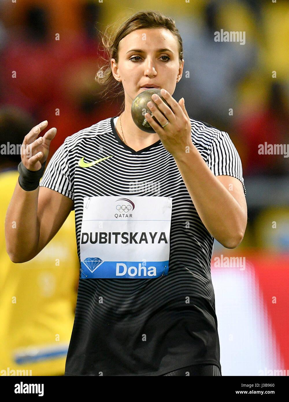 Doha Qatar 5th May 2017 Aliona Dubitskaya Of Belarus Competes Stock Photo Alamy