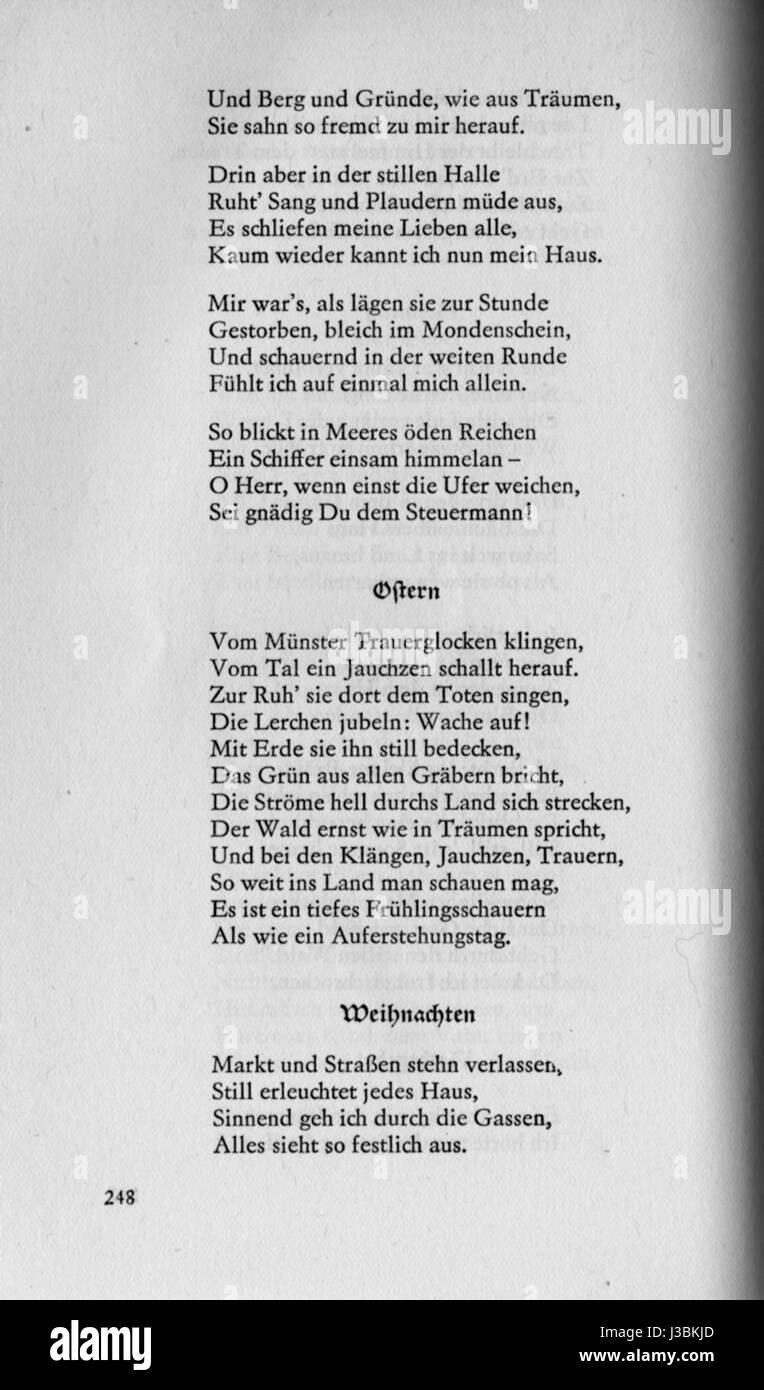Eichendorff Gedichte Ostern Stock Photo 139783797 Alamy