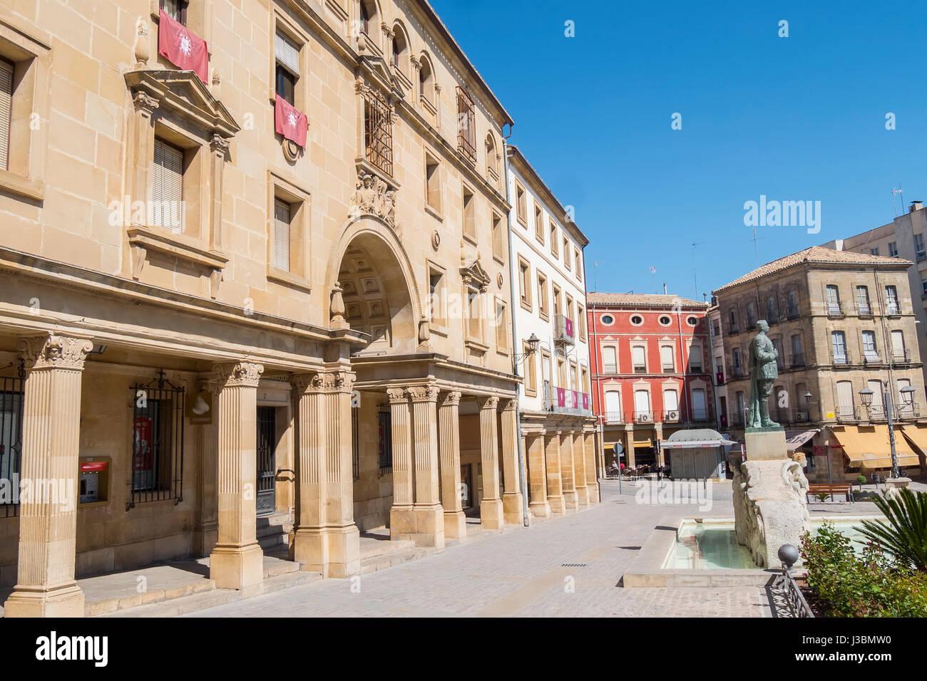 Andalucia Square, Ubeda, Jaen, Spain Stock Photo