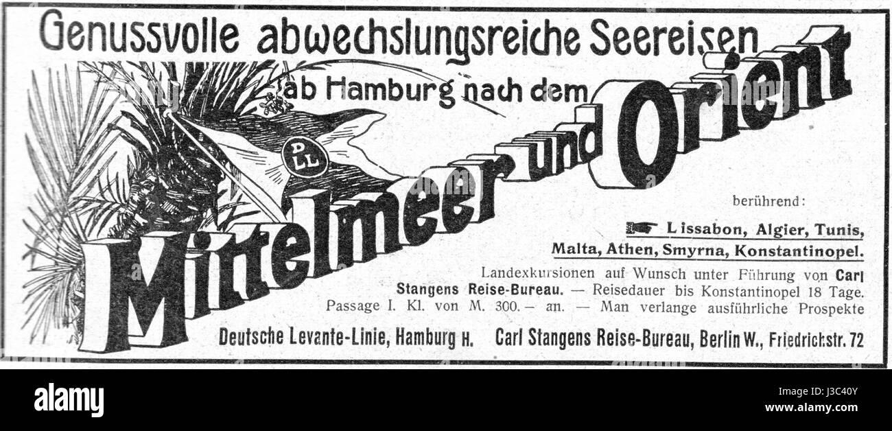 Die Woche 1904 07 09 S. II Seereisen Deutsche Levante, Carl Stangens - Stock Image