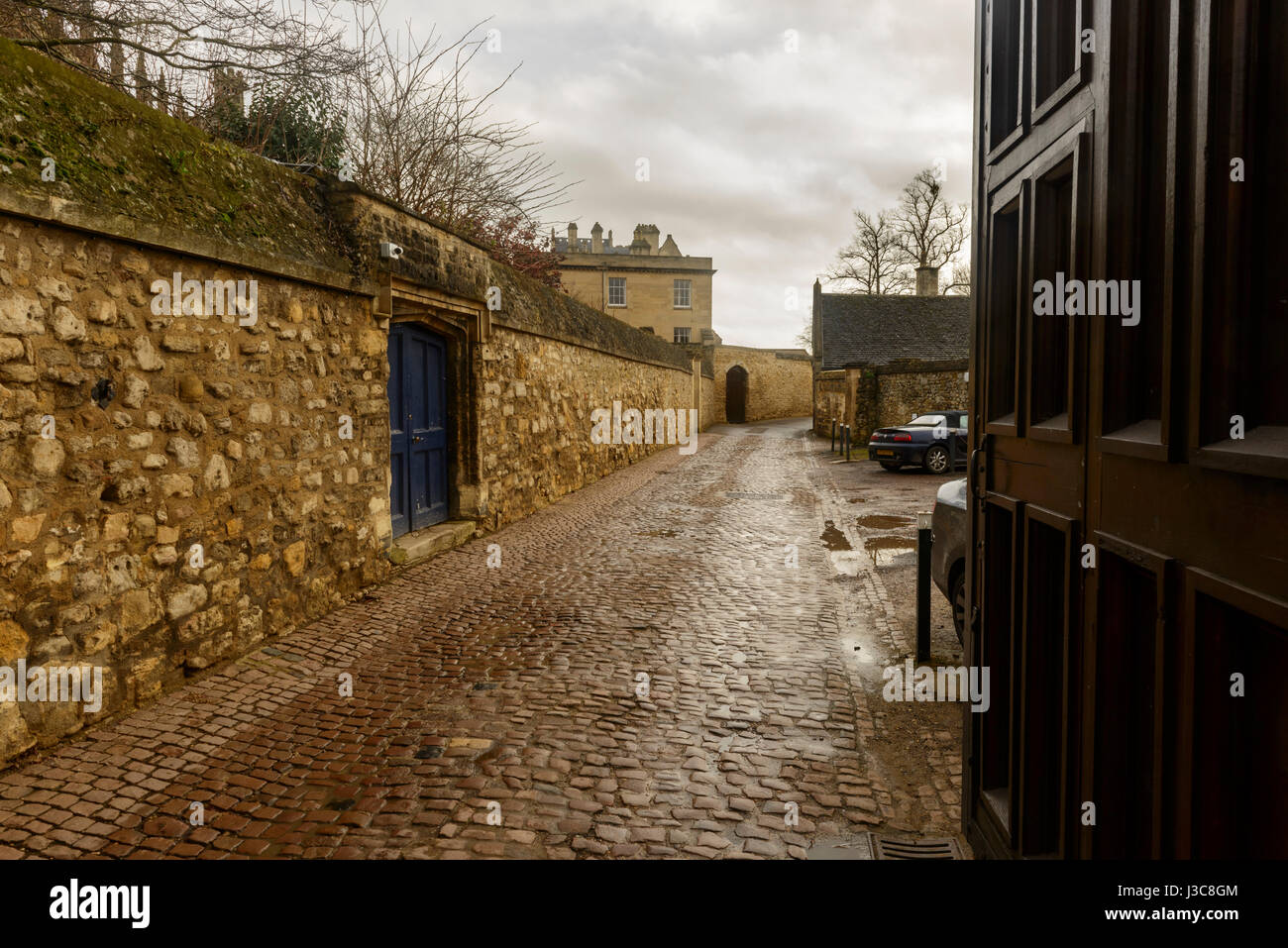 Old cobbled street - Stock Image