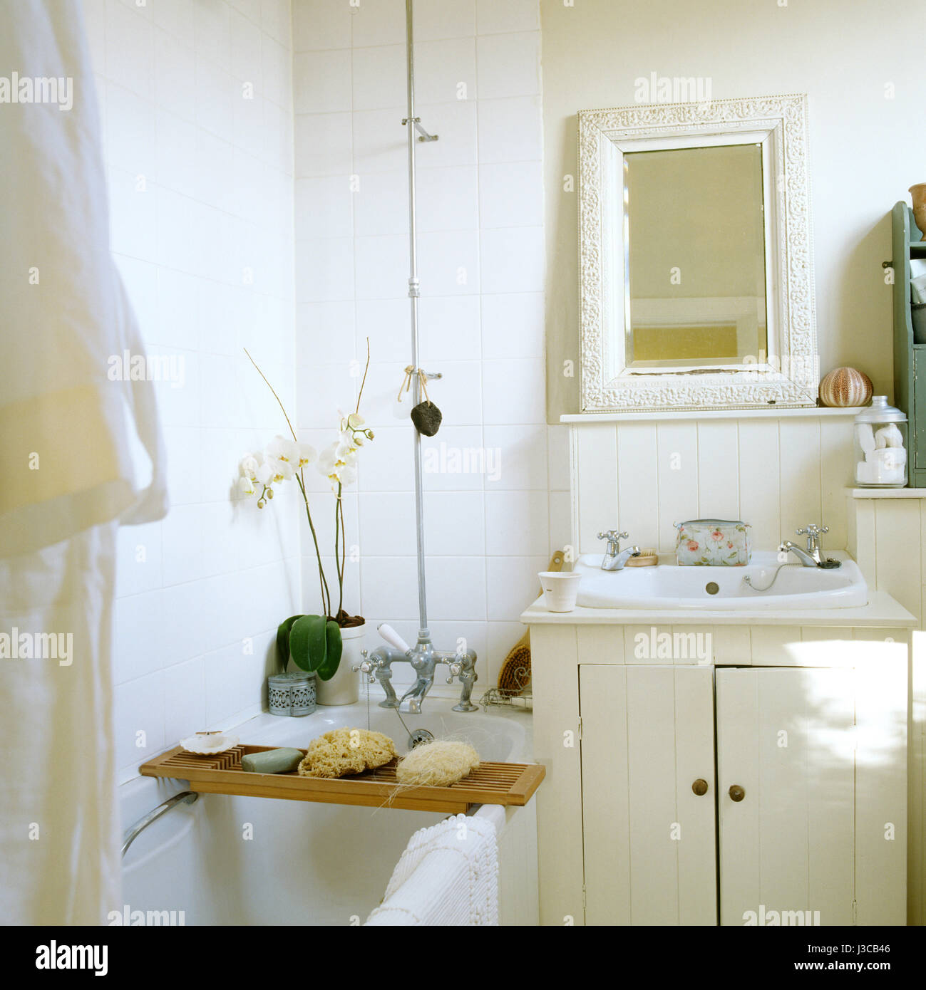 Country style bathroom. - Stock Image