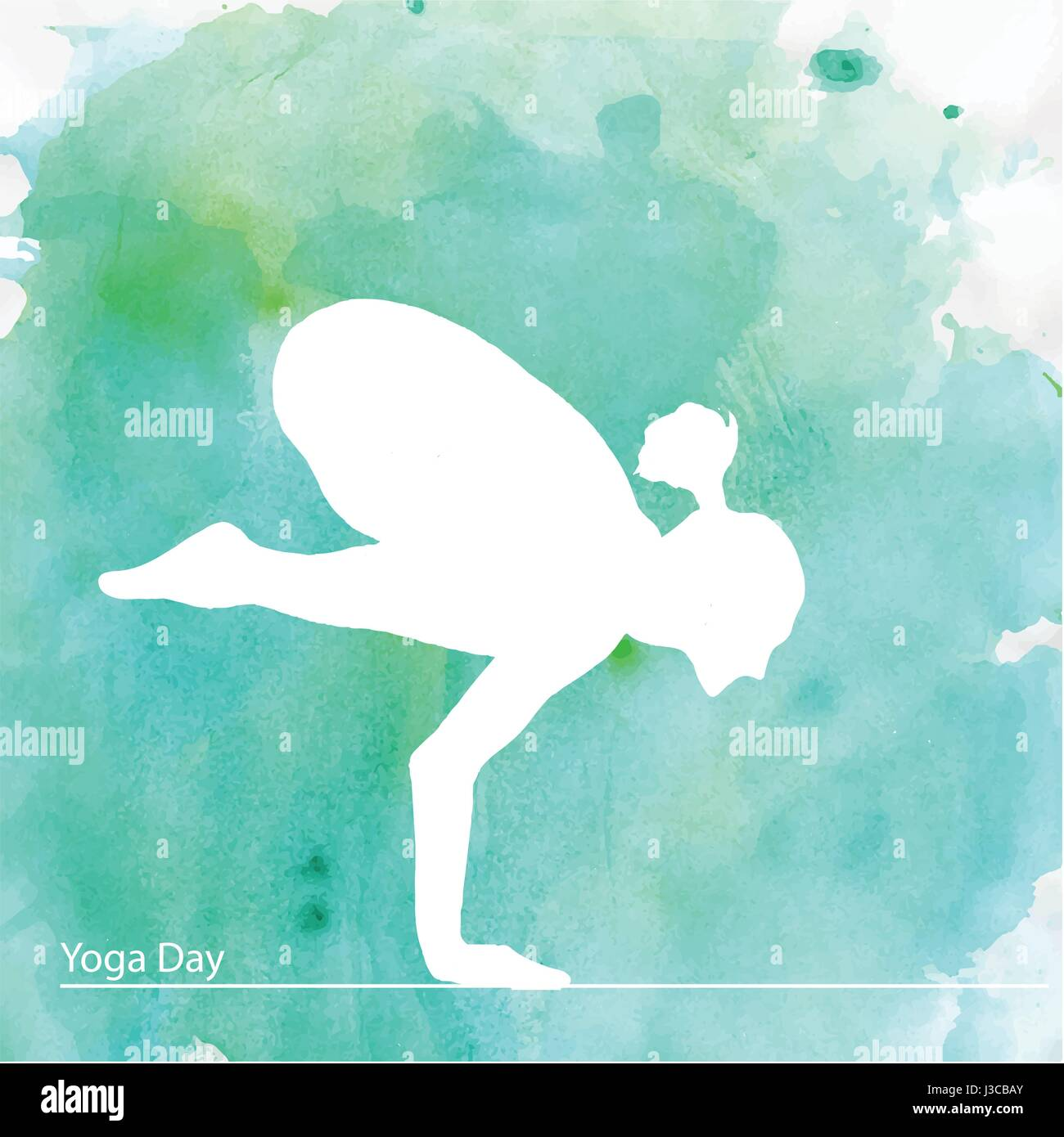 Young woman sitting in yoga pose. - Stock Vector