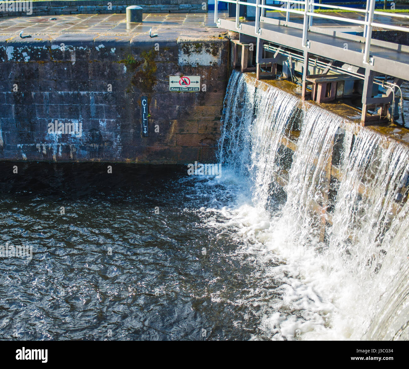 Waterfall, Fort Augustus locks, Scotland - Stock Image