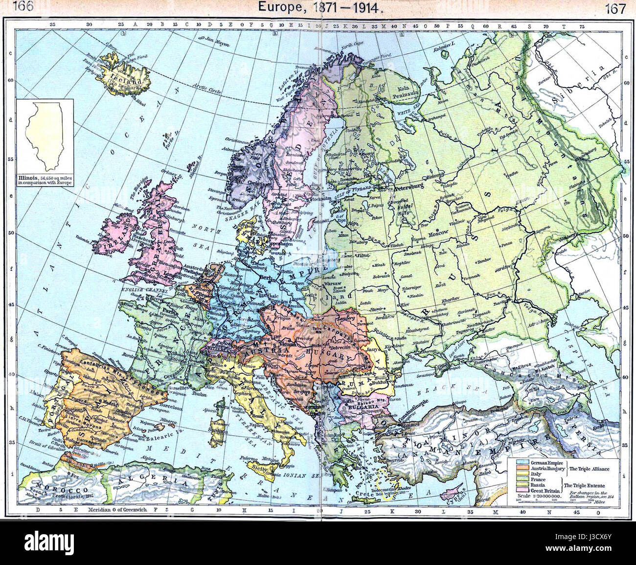 Map Europe 1914 High Resolution Stock Photography And Images Alamy
