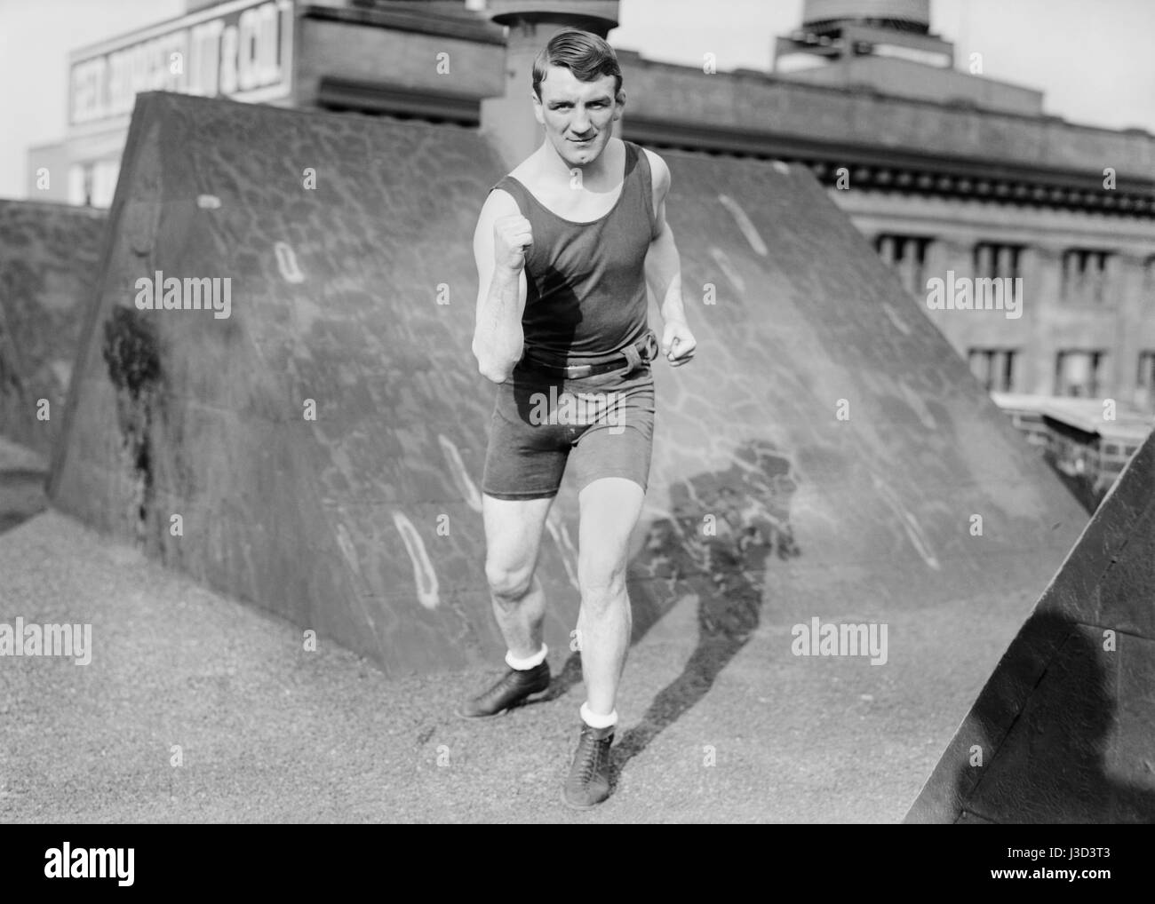 Vintage photo of boxer Freddie Welsh (1886 – 1927) – World Lightweight Champion 1914 – 1917. Welsh (real name Frederick - Stock Image