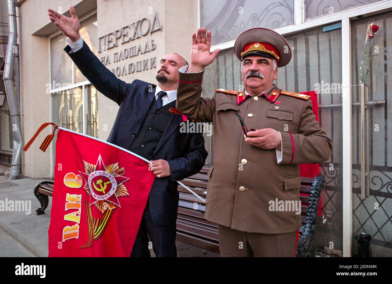 Lenin and Stalin - Stock Image