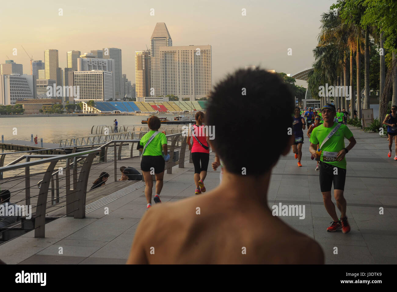 SINGAPORE. 2016. Running event at Marina Bay - Stock Image