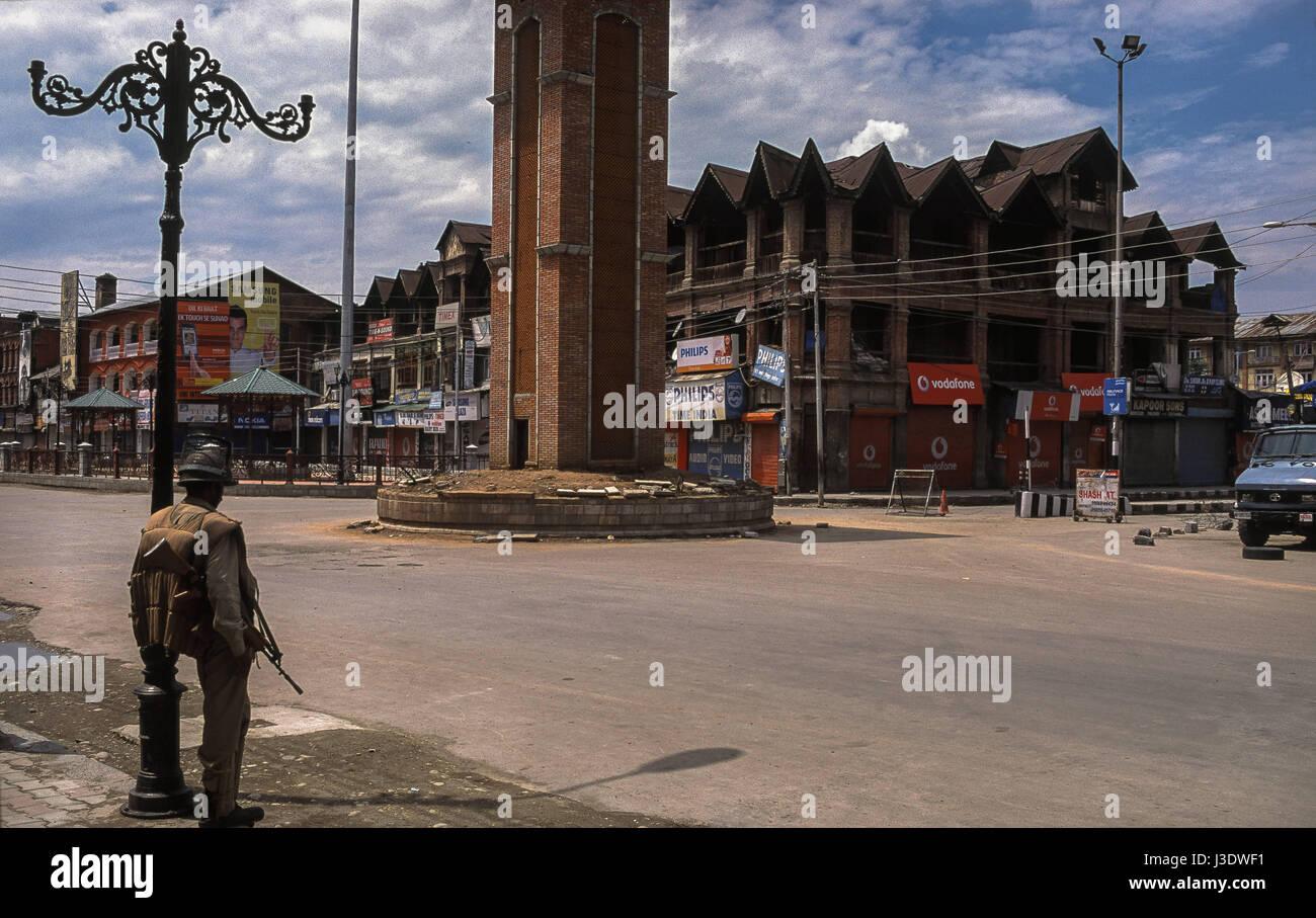 Srinagar, Jammu and Kashmir, India, 2010, Trooper Stock Photo
