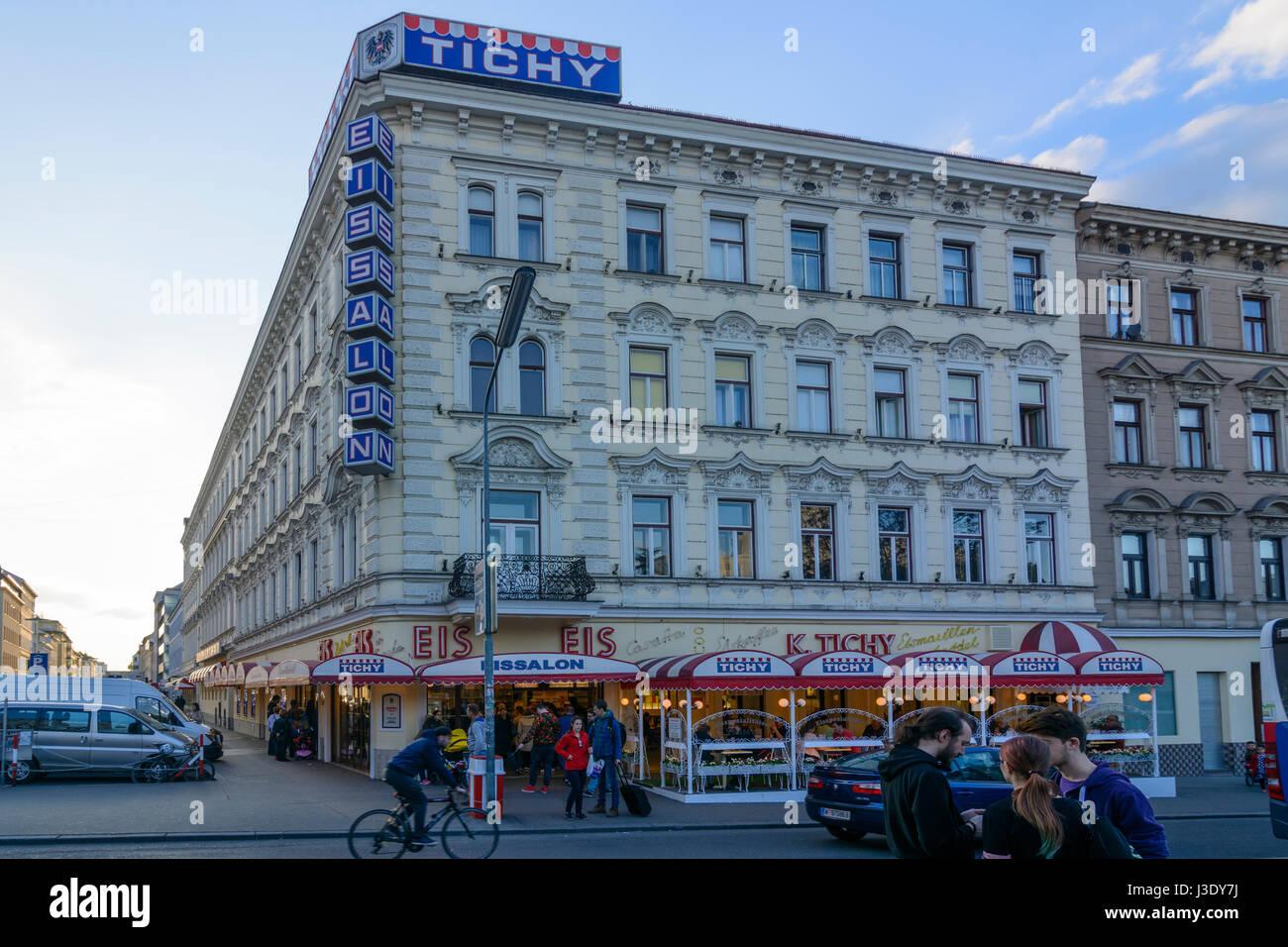 Ice Cream Parlor Shop Tichy At Square Reumannplatz Wien Vienna