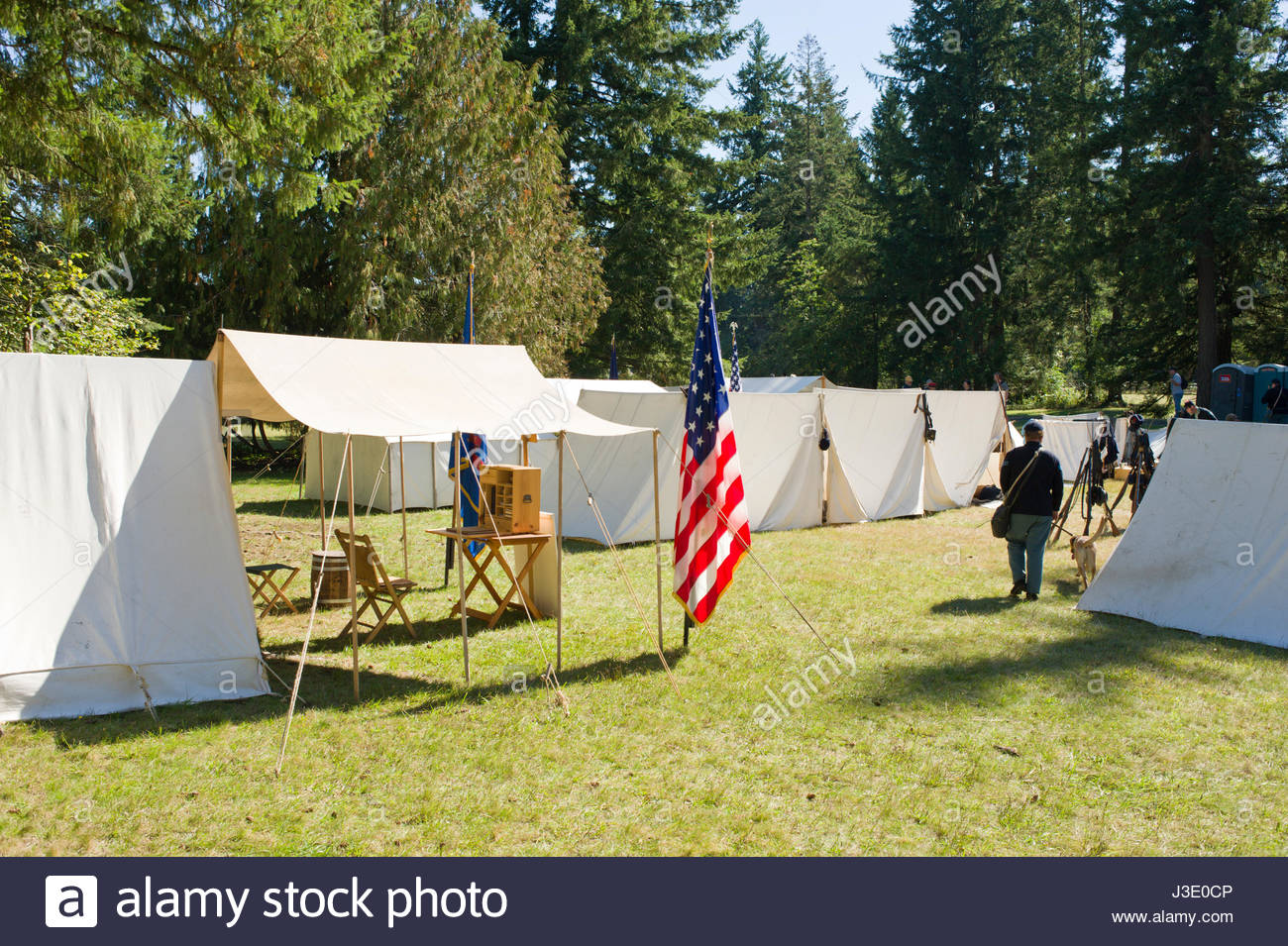 new arrival f0abf 18d8c Northern military camp with white canvas tents at Civil War ...