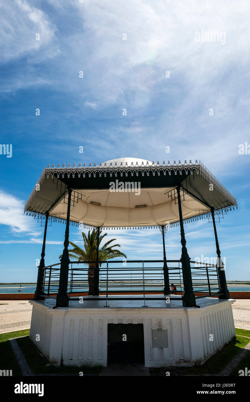 bandstand on the seafront at Olhao, Algarve, Portugal - Stock Image