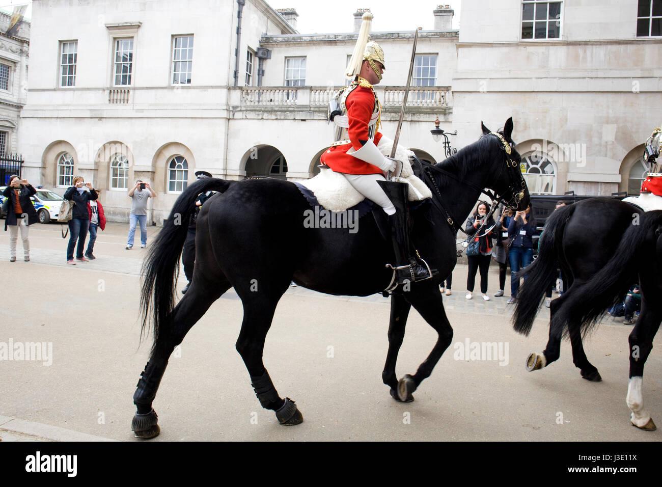 Household Calvary at Horseguards Parade London England Stock Photo