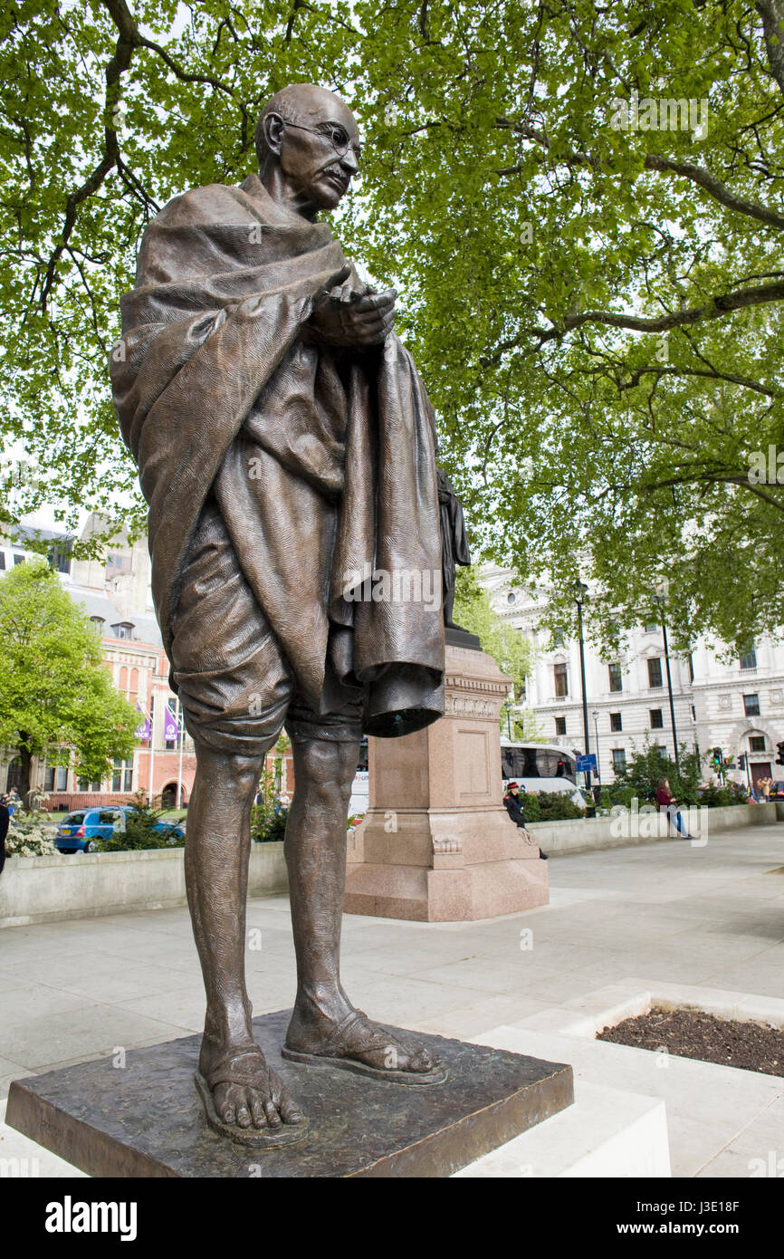 statue of Mahatma Gandhi - Stock Image