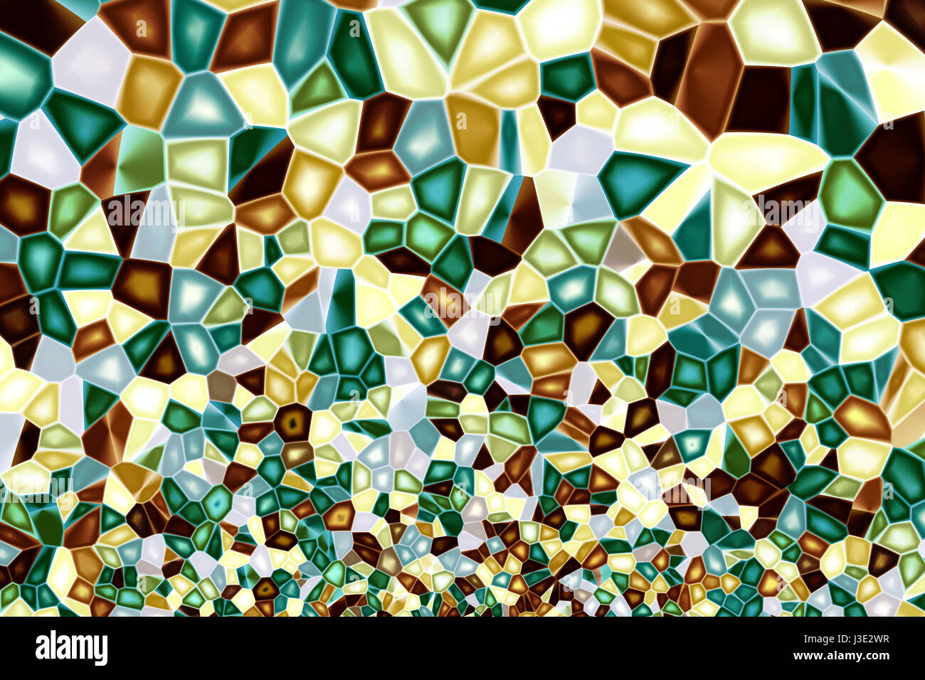 multicolored mosaic - Stock Image