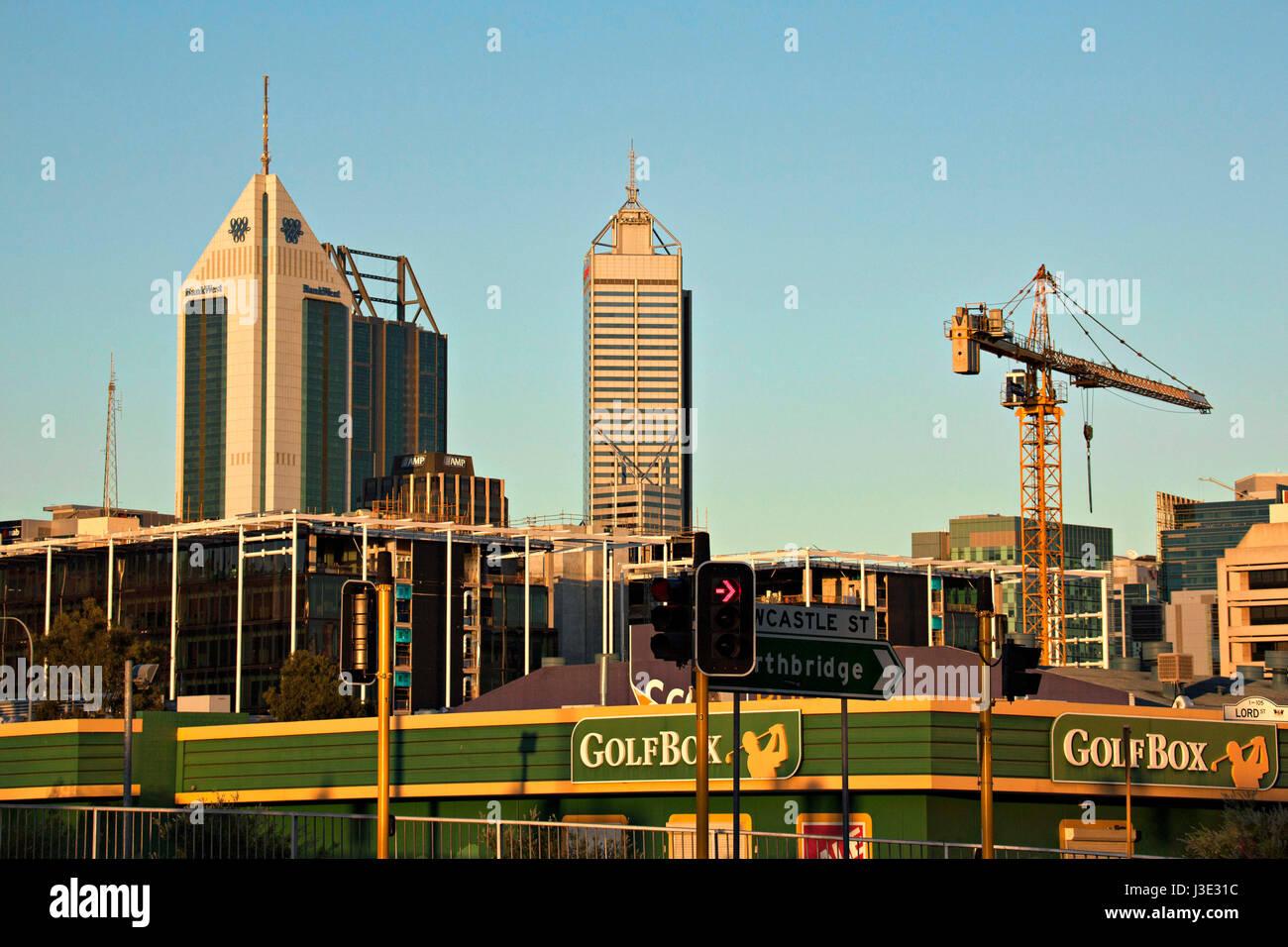 Perth City architecture, Western Australia Stock Photo