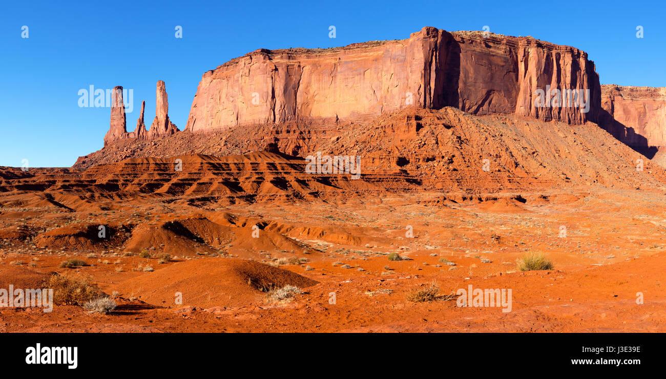 Monument Valley Navajo Tribal Park, Arizona - Stock Image